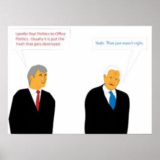 Política do escritório pôster
