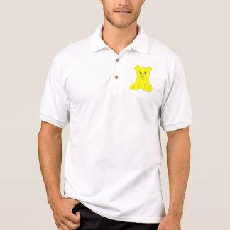 Pólo amarelo do urso camisa polo