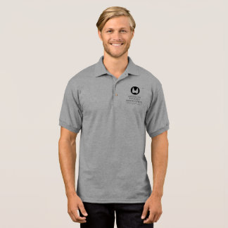 Pólo americano da associação do tiróide - cinza t-shirt polo
