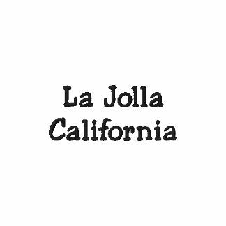 Pólo bordado Califórnia de La Jolla!!! Camiseta Bordada Polo