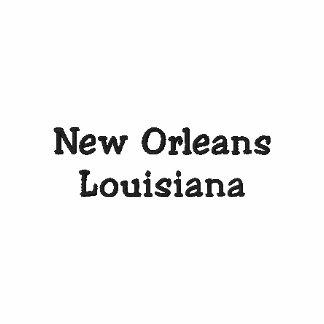 Pólo bordado Louisiana de Nova Orleães Camiseta Bordada Polo