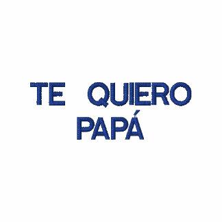 Pólo bordado papá de Te Quiero do espanhol Camiseta Bordada Polo