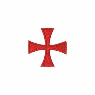 Pólo bordado Templar dos cavaleiros Camiseta Bordada Polo