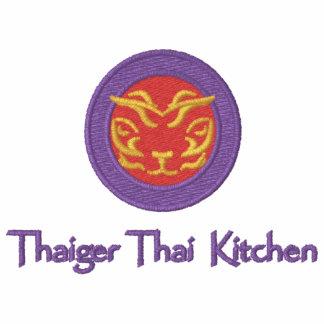 Polo bordado vermelho por Thaiger tailandês
