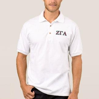 Pólo branco alfa da gama do Zeta Camisa Polo