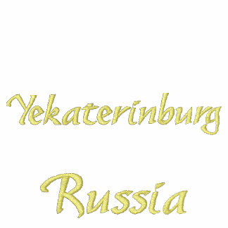 Pólo de Yekaterinburg Rússia Camiseta Bordada Polo