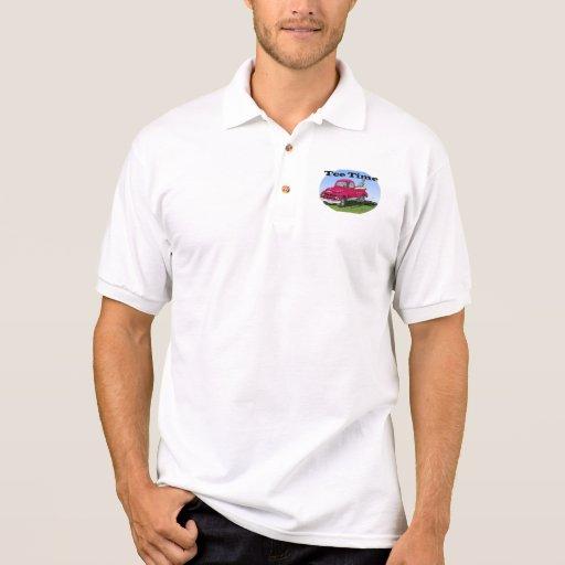 Pólo do tempo do T do jogador de golfe T-shirts