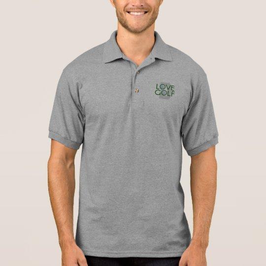 Pólo Golfing do monograma do golfe do amor do pai T-shirt Polo