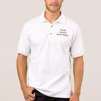 Pólo impresso (texto preto) camisa polo