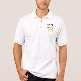 Pólo louco irritado da cara t-shirt polo