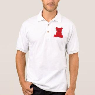 Pólo vermelho do urso t-shirt polo