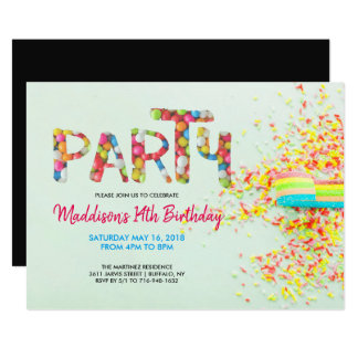 Polvilhe o convite de aniversário