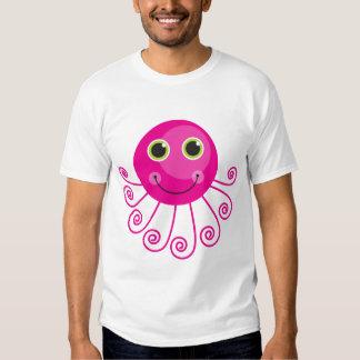 Polvo cor-de-rosa tshirts