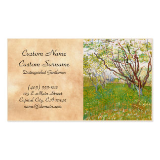Pomar em belas artes de Vincent van Gogh da flor Modelos Cartões De Visita