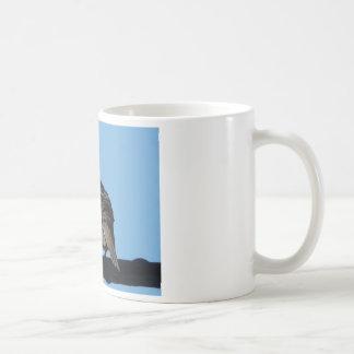 pomba da manhã caneca de café