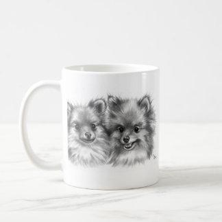 Pomeranians Caneca De Café