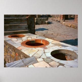 Pompeii, medidas da grão em uma loja impressão