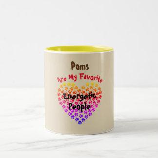 Poms é minhas pessoas energéticas favoritas - caneca de café em dois tons