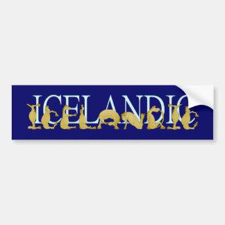 Pônei flexível islandês do alfabeto adesivo para carro