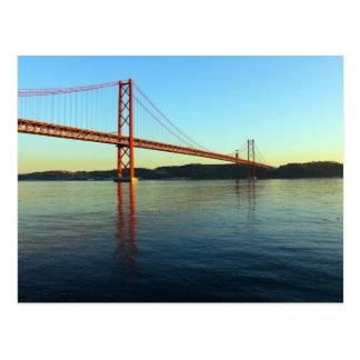 Ponte 25 de Abril, LIsboa, Portugal Cartão Postal