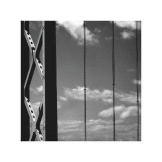 """Ponte branca do preto """"n"""" impressão em tela"""