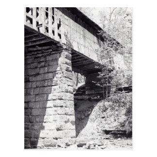 Ponte coberta cartão postal