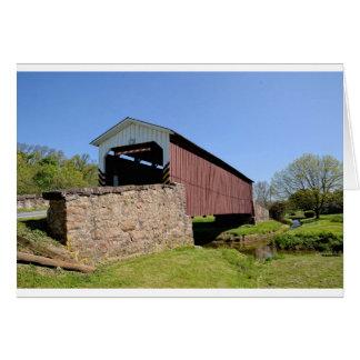 Ponte coberta do moinho do tecelão cartão