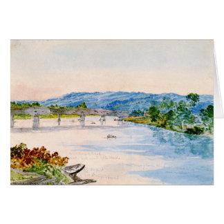 Ponte coberta New York 1846 Cartão
