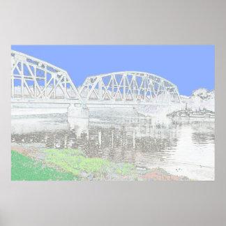 Ponte da estrada de ferro poster
