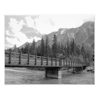 Ponte da montanha impressão de foto