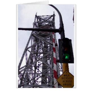 Ponte de elevador de Ariel Cartão Comemorativo