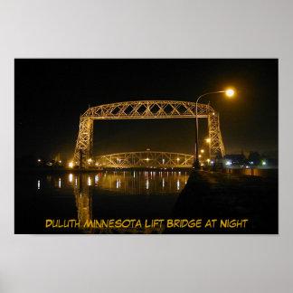 Ponte de elevador histórica de Duluth Minnesota Poster