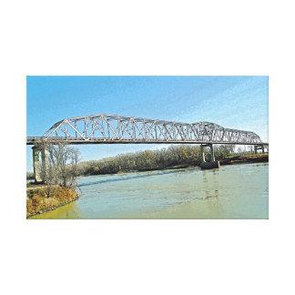 Ponte de fardo do Rio Missouri Impressão Em Tela Canvas
