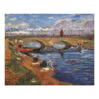 Ponte de Glerie do poster de Van Gogh sobre o Vige