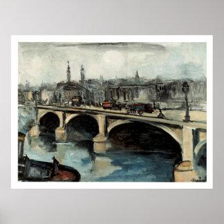 Ponte de Londres das viagens vintage, Inglaterra Poster