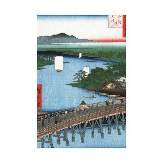 Ponte de madeira de Senju da arte japonesa fina