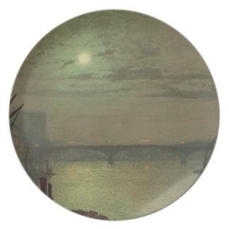 Ponte de Southwark, 1882 (óleo em canvas) Prato