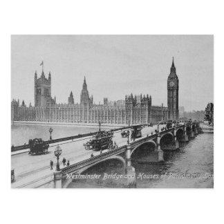 Ponte de Westminster e as casas de Cartão Postal