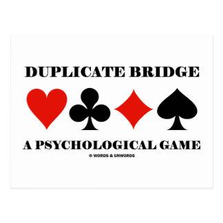 Ponte duplicada um jogo psicológico cartão postal