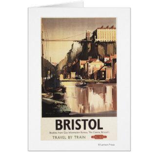 Ponte e barcos de suspensão de Clifton Cartão