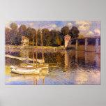 Ponte em Argenteuil por Claude Monet Posteres