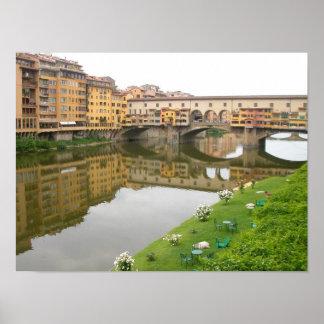 Ponte Florença de Ponte Vecchio, Italia Posters