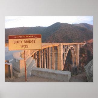 Ponte histórica de Bixby Poster