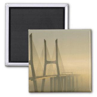 Ponte Lisboa Portugal de Vasco da Gama Ímã Quadrado