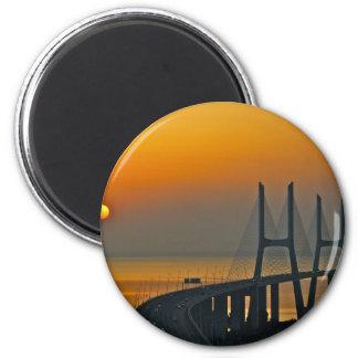 Ponte Lisboa Portugal de Vasco da Gama Ima De Geladeira