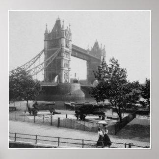 Ponte Londres da torre, rio Tamisa, Inglaterra Poster