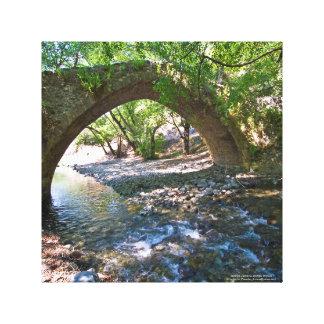 Ponte medieval de Kelefos na floresta de Chipre