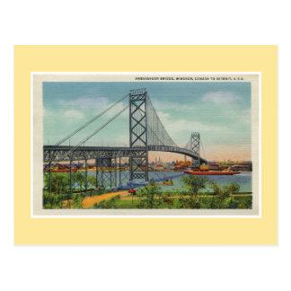 Ponte Windsor Canadá do embaixador de Detroit do Cartão Postal