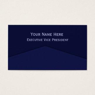 Ponto central azul escuro cartão de visitas