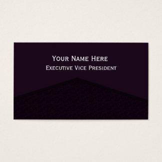 Ponto central roxo escuro cartão de visitas